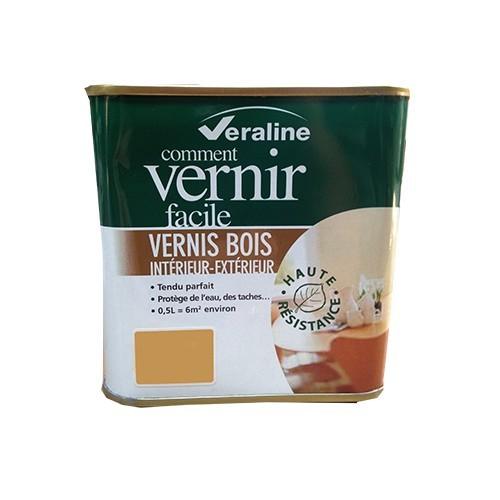 Vernis bois veraline ch ne clair satin pas cher en ligne for Peinture vernis bois