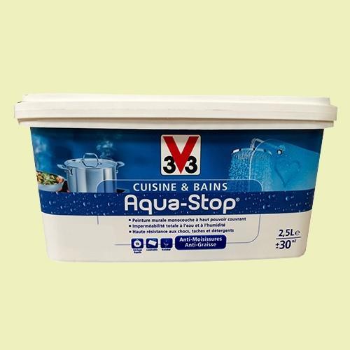 Peinture cuisine et bain v33 id e inspirante pour la conceptio - Peinture aquastop v33 ...