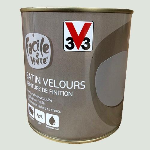 Peinture murale et boiserie v33 facile vivre fleur de sel satin velours pas cher en ligne for Peinture murale pailletee pas cher