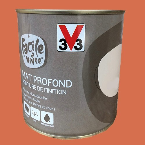 Peinture murale et boiserie v33 facile vivre potimarron mat pro - Peinture murale pas cher en ligne ...
