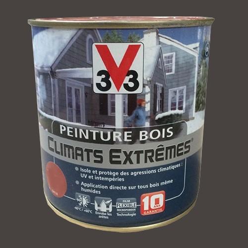 Peinture bois v33 climats extr mes satin taupe pas cher en ligne - Peinture bois taupe ...