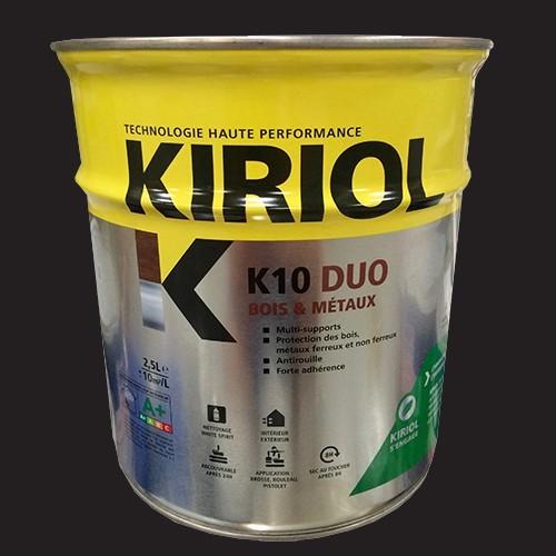 Peinture kiriol k10 duo noir pas cher en ligne for Peinture pas cher