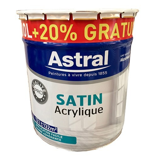 Peinture astral satin acrylique 5l pas cher en ligne - Peinture pas cher pour mur ...