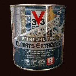 Peinture fer v33 climats extr mes martele rouille 0 5l - Peinture effet rouille fer ...