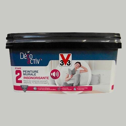 v33 d co activ 39 peinture murale insonorisante 2 5l gris. Black Bedroom Furniture Sets. Home Design Ideas