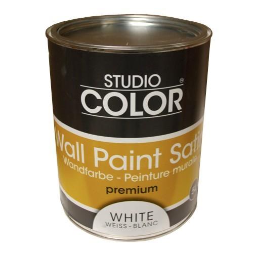 peinture studio color wall paint satin premium blanc pas cher en ligne black bedroom furniture. Black Bedroom Furniture Sets. Home Design Ideas