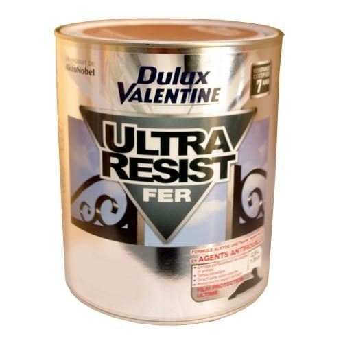 dulux valentine ultra r sist fer blanc brillant 2 5l