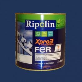 Ripolin xpro3 fer bleu marine pas cher en ligne for Peinture bleu marine mat