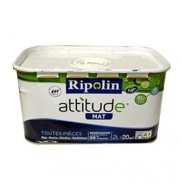 Ripolin attitude blanc mat 2l pas cher en ligne for Peinture ripolin attitude