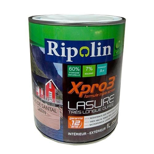 Ripolin lasure xpro3 12ans bois de santal 1l pas cher en ligne for Peinture en ligne