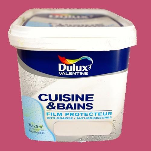 Dulux valentine peinture acrylique cuisine et salle de bains rose malice satin 2l pas cher en ligne for Peinture rose cuisine