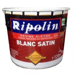 Ripolin peinture qualit professionnelle r sine alkyde blanc satin pas cher en ligne for Peinture qualite
