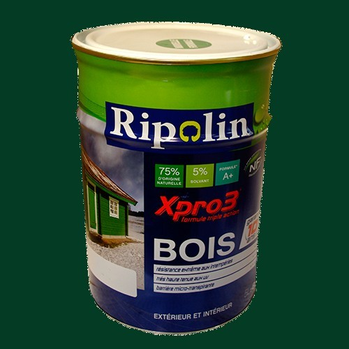 Ripolin xpro3 bois vert basque pas cher en ligne for Peinture pas cher