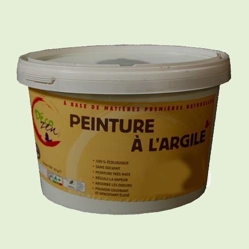 D co zen peinture l 39 argile 2 5l pistache pas cher en ligne for Peinture couleur argile