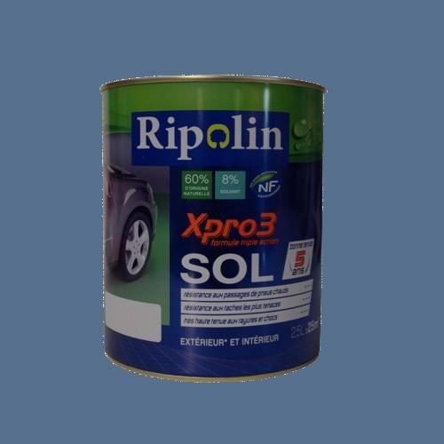 achat peinture ripolin xpro3 sol gris bleu satin. Black Bedroom Furniture Sets. Home Design Ideas