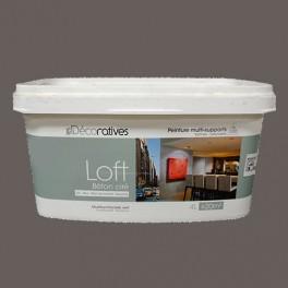 Peinture effet b ton satin e les d coratives smoke 4l pas cher en ligne for Peinture effet beton cire pour plan de travail