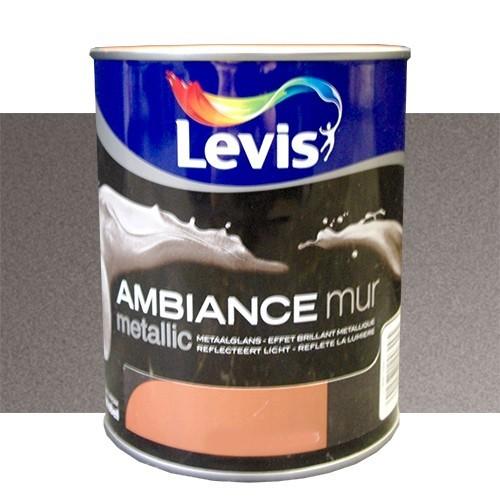 Peinture levis ambiance mur metallic bronze 1l pas cher en ligne - Peinture pas cher pour mur ...