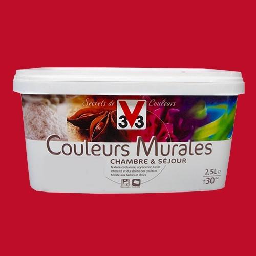 Peinture v33 couleurs murales satin rouge harrisa pas cher - Materiel de peinture artistique pas cher ...