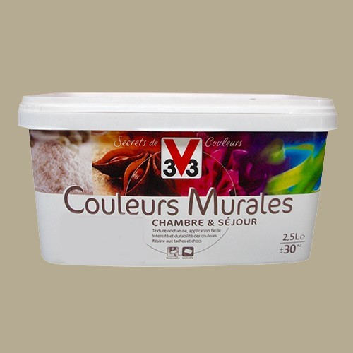 Peinture v33 couleurs murales satin gingembre pas cher en ligne - Peinture acrylique murale pas cher ...