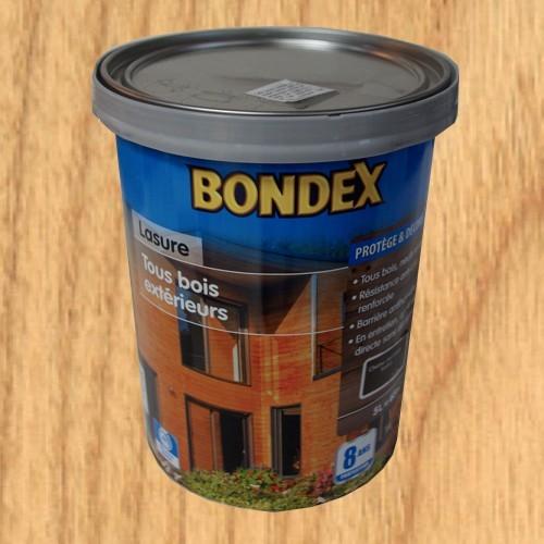 Bondex lasure tous bois ext rieur 8 ans ch ne clair pas for Peinture bois clair