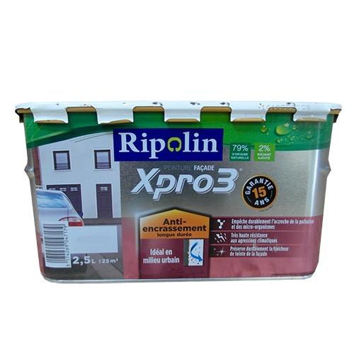 Peinture fa ade ripolin xpro3 anti encrassement blanc pas cher en ligne for Peinture ripolin