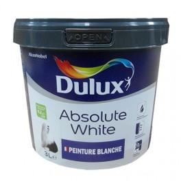 Peinture acrylique dulux valentine absolute white blanc mat 3l for Peinture mur blanc mat ou satin
