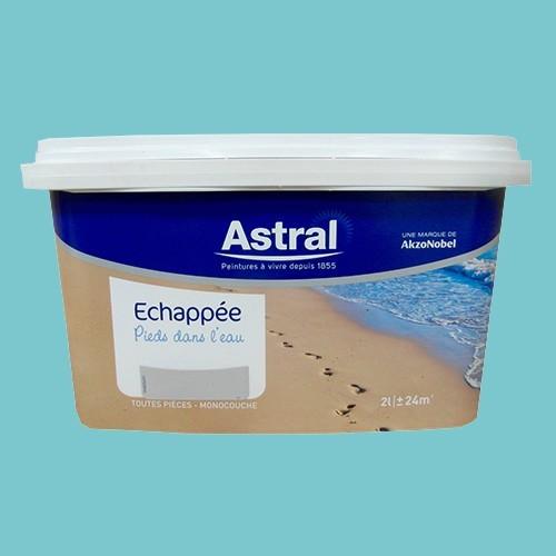 Peinture astral echapp e pieds dans l 39 eau crique satin for Peintures astral