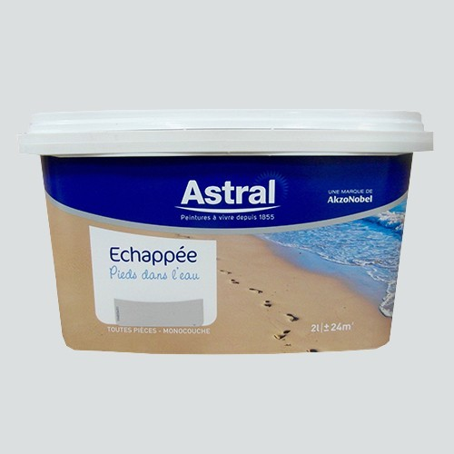 Peinture astral echapp e pieds dans l 39 eau embruns satin for Peintures astral