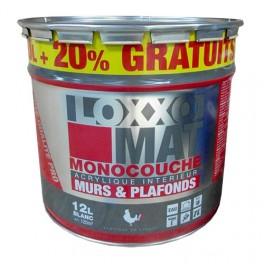 Peinture loxxo mat monocouche 12l blanc pas cher en ligne - Peinture pas cher pour mur ...