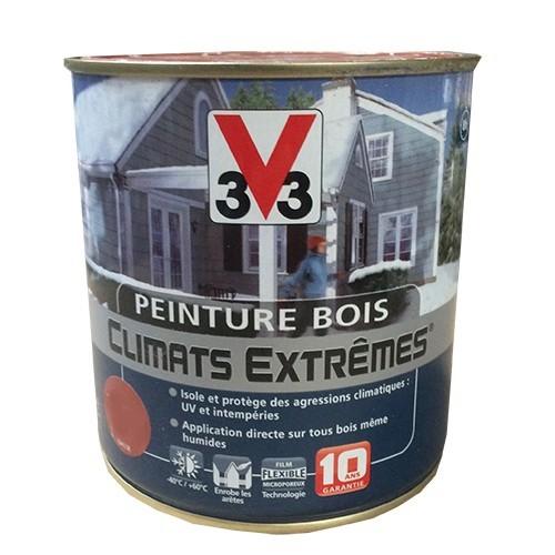 Peinture bois v33 climats extr mes satin blanc pas cher en ligne for Peinture escalier bois v