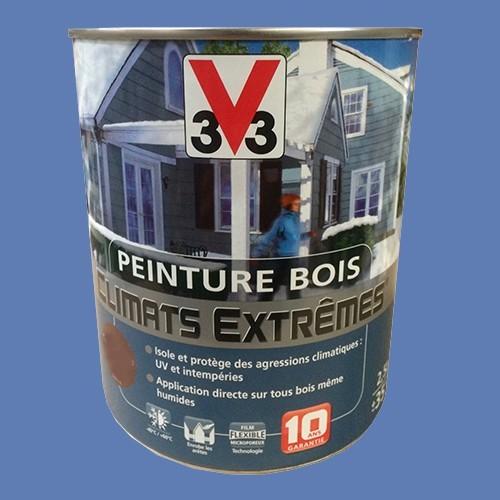 Peinture bois v33 climats extr mes satin bleu lavande pas for Peinture couleur lavande