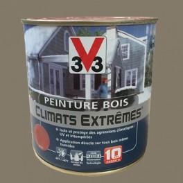 Peinture bois v33 climats extr mes satin bois cendr pas - Peinture v33 bois exterieur ...