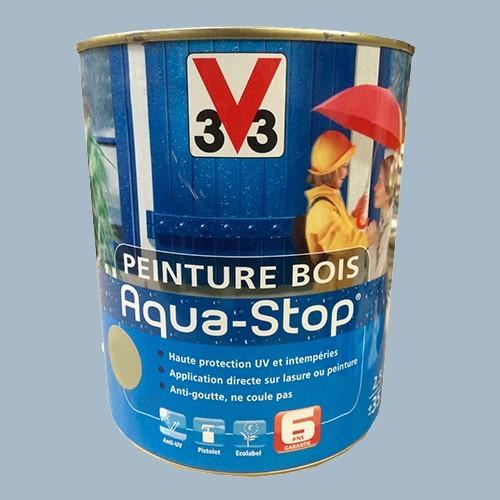 Peinture v33 bois aqua stop satin 2 5l pas cher en ligne for Peinture patinee sur bois