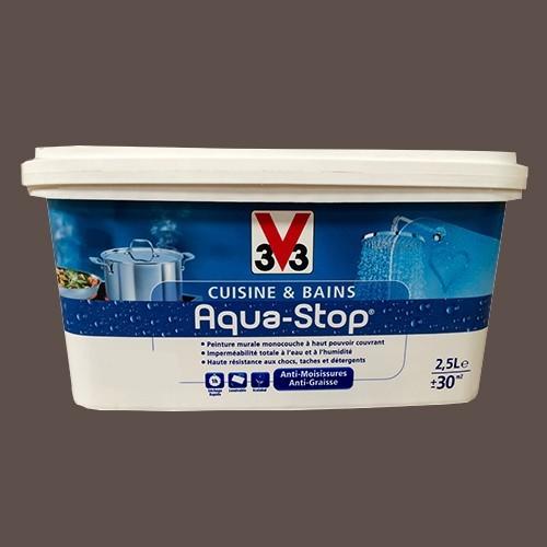 Peinture V33 Cuisine Et Bains Aqua Stop Noix De Muscade 2,5L Satin Pas Cher  En Ligne