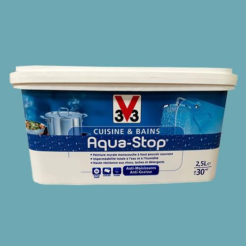 Peinture V33 Cuisine Et Bains Aqua Stop Bleu Alpin 25l Satin Pas