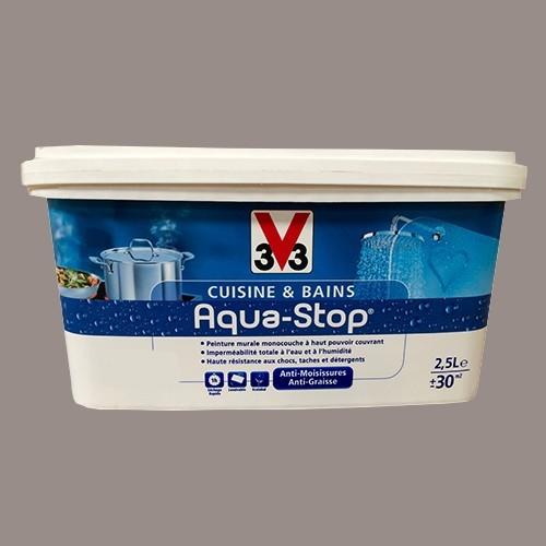 Peinture v33 cuisine et bains aqua stop c pe 2 5l satin - V33 cuisine et bain ...
