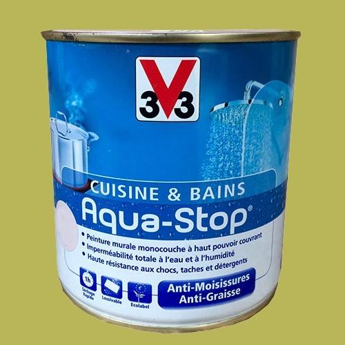 peinture v cuisine et bains aquastop vert eden l satin pas cher en ligne with peinture cuisine v33. Black Bedroom Furniture Sets. Home Design Ideas