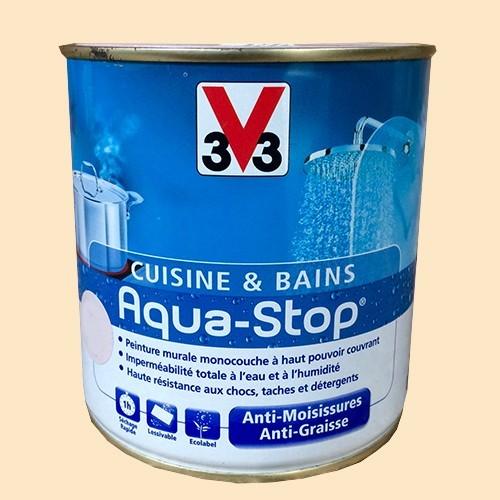Peinture V33 Cuisine Et Bains Aqua Stop Mascarpone Satin Pas Cher En