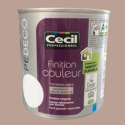 Cecil pe deco peinture finition couleur satin tourterelle pas cher en ligne for Peinture couleur mur pas cher
