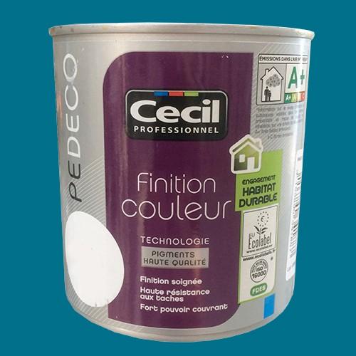 Cecil pe deco peinture finition couleur satin bleu canard - Couleur violine peinture ...