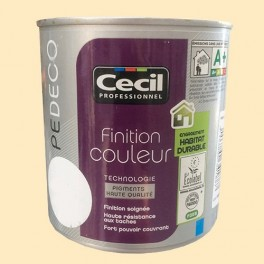 CECIL PE DECO Peinture Finition Couleur Satin Coquille d'oeuf