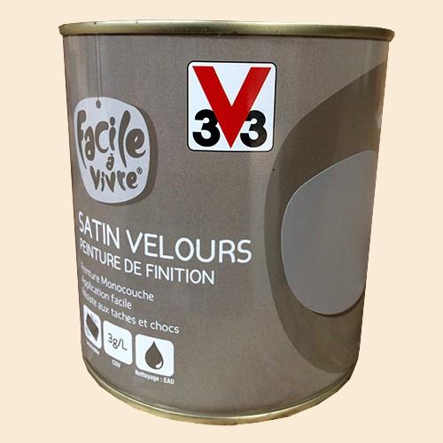 Peinture murale et boiserie v33 facile vivre lait de coco satin velours pas cher en ligne - Peinture boiserie porte ...