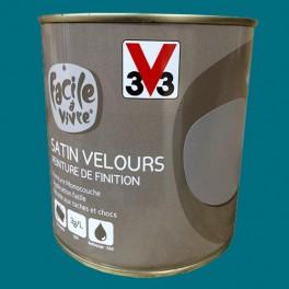 Peinture Murale Et Boiserie V33 Facile à Vivre Bleu Canard Satin Velours
