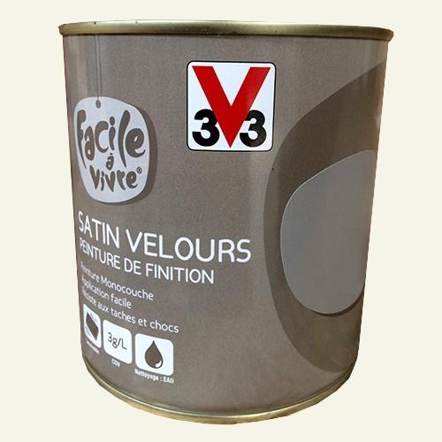 peinture murale et boiserie v33 facile vivre nuage de lait satin velours pas cher en ligne. Black Bedroom Furniture Sets. Home Design Ideas