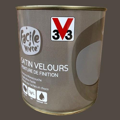 Peinture murale et boiserie v33 facile vivre caf satin velours - Peinture murale pas cher ...