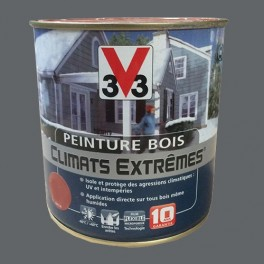Peinture Bois V33 Climats Extrêmes Satin Ardoise