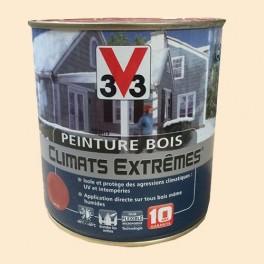 Peinture Bois V33 Climats Extrêmes Satin Blanc cassé