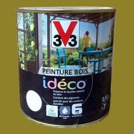 Peinture bois V33 Idéco Basilic Satin