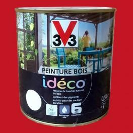 Peinture bois V33 Idéco Coquelicot Satin