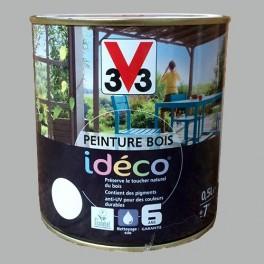 Peinture bois V33 Idéco Bois grisé Satin